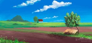 Rural environment - speedpaint by Syntetyc