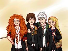 The Big Four Howarts  Sketch by yunnasukiga5