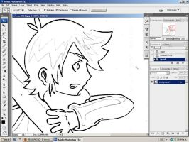 Working in my doujinshi by Wenzelray