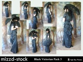 Black Victorian Pack 3 by mizzd-stock