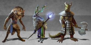 Fantasy animals lineup by Detkef