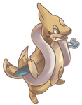 Shiny Flowsel | Floatzel Commission by AutobotTesla