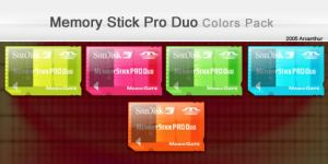 PSP MemoryStick Duo Pro Colors by Arcanthur