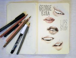 George Ezra - Lips Study by cecilepellerinfrance