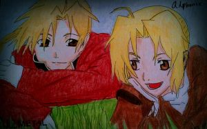 FMA- Edward and Alphonse by RindaLinda
