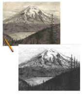 Mt St Helens by ariescusp
