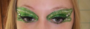 Poison Ivy Costume Makeup Close-up. by Kaikoura