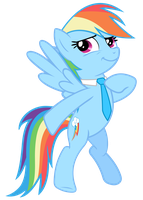 Rainbow Dash Vector - A Tie You Say... by Anxet