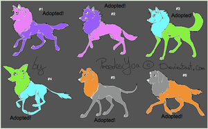 Free Canine Adoptables Set 4 -CLOSED- by WarriorCatLuver123