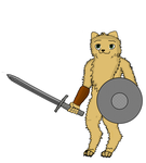 pomeranian warrior by TheIronTails