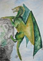 Green dragon by tequillka13
