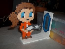 Portal Perler (Part 1) by Libbyseay