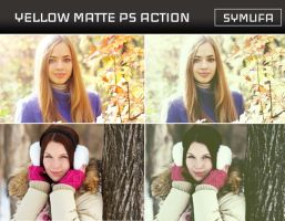 YELLOW MATTE PHOTOSHOP ACTION 0023 by symufa