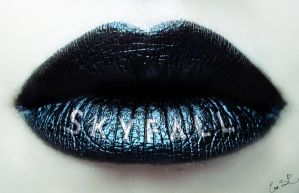 Skyfall Bond Lip Art (my 50th lip art) by Chuchy5