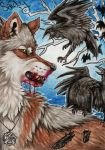 ACEO #28: Into the Woods by SaidyWolf