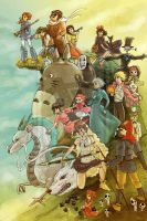 Studio Ghibli by SasukeTheHotty