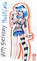 Happy (belated) Birthday Mad4Ctats!! by MikuPapercraft