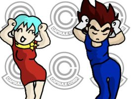 Vegeta and Bulma caramelldanse by Dbzbabe