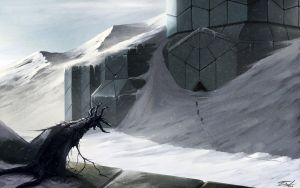 At the Mountains of Madness Art by Zhekan
