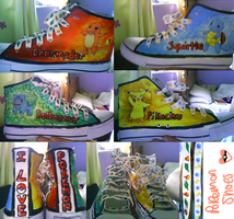 POKEMON SHOES! by turquoiseted