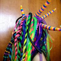 Rainbow cybergoth raver outfit - 6 by German-Blood