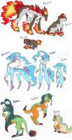 Pokemon Starters of boreDOOM by Noth-chan