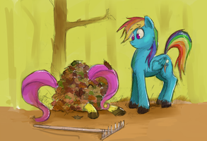 Beep Beep, I'm a pile of leaves by Idriaka
