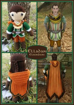 Elladan - Lord of the Rings Plushies by VelvetKey