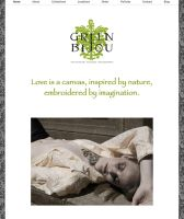 Green Bijou Website Design by gamesandgigs