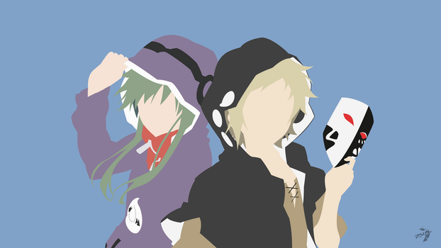 Kido and Kano | Mekakucity Actors Minimalist Anime by Lucifer012