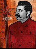 Stalin Portrait by ruv