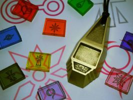 Digimon Tags and Crests, interchangeable (view 1) by ChinookCrafts