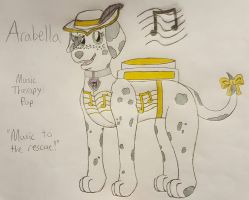 Arabella the Music Therapy Pup by WolfArcher456
