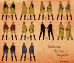 Velonan Military Uniforms Female by Ramavatarama