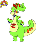 {New oc} Axel the Pouched Goodra (Leo's cousin) by yoshiLover1000