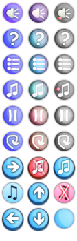 Free Game UI Buttons Pack by LoversHorizon