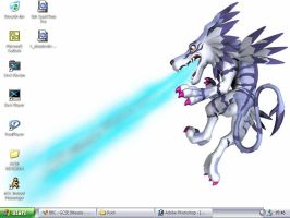 Garurumon Desktop by akumakarun