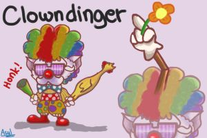 Clowndinger Skin Idea by RexSadio