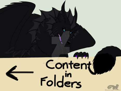 Content in Folders poster by BlackDragon-Studios