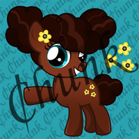 My little pony Point adoptable - Afro Puff by chunk07x