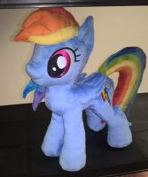 Rainbowdash Minky Plush 1 by JusticeOfElements