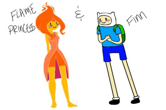 Flame Princess and Finn by YellowishDinosaurs