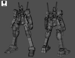Gundam Rx-78-2 Extra fit Ver wireframe by zipbox