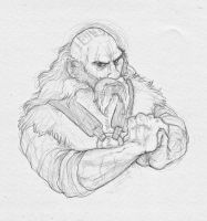 Dwalin, at your service by AnnieHyena