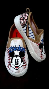 Kids Mickey Mouse Shoes by BreannaKayEvans