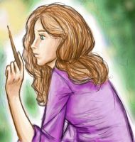 I colored Hermione by aleyed
