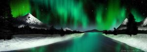 Emerald Night Panorama by KvornanTheLafesta