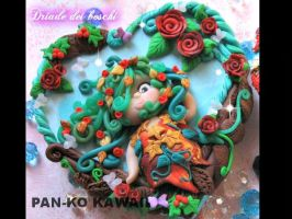 box of Dryad of the woods polymer clay by PankoKawaii