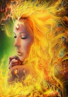 En En - Fire Hair by Lun-art