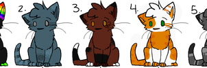 Cat Adoptables #1 | 1 Left by Fenwa-Adopts